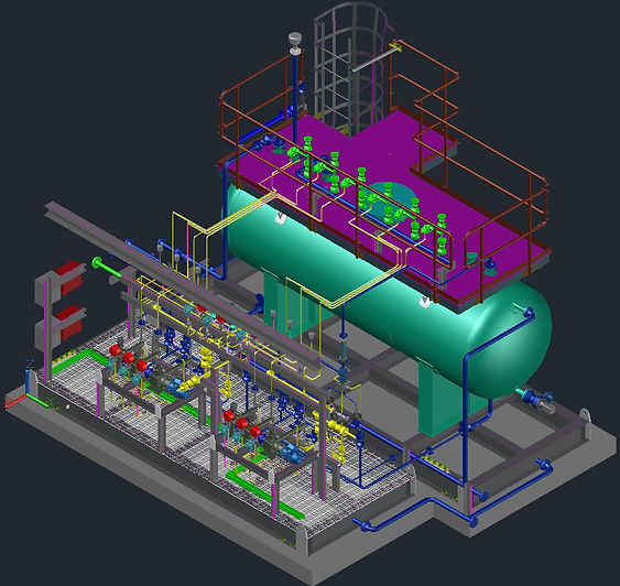 biocide injection skid package | design of skid package| Universal Engineering Servives