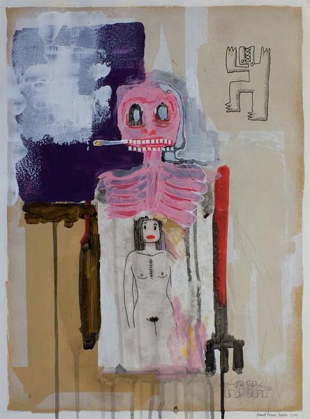 femme dans squelette