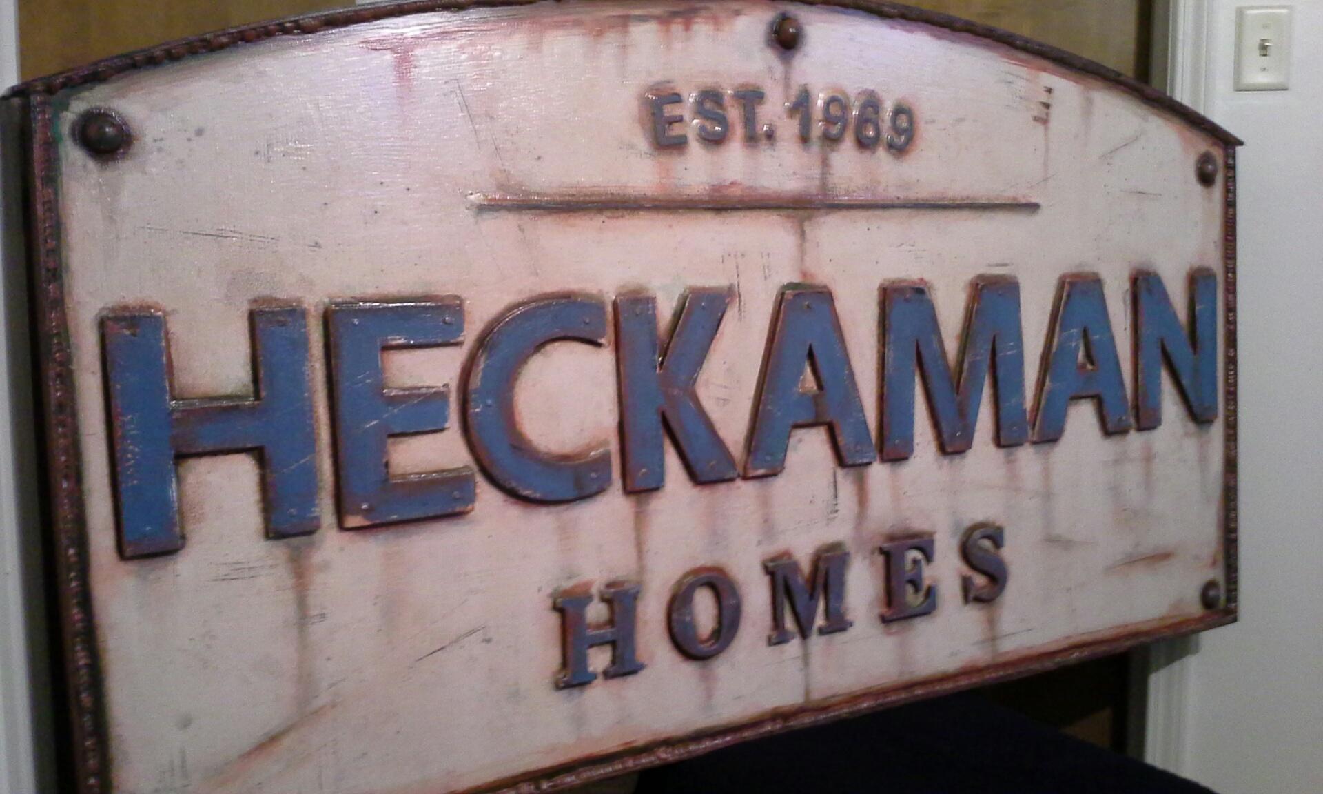 Heckaman Homes sign