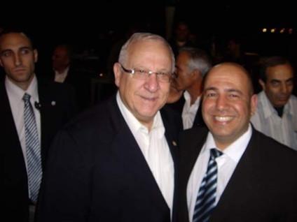 עם כבוד נשיא המדינה מר ראובן רובי רבלין