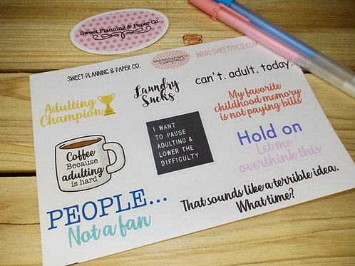 Adulting Planner Stickers
