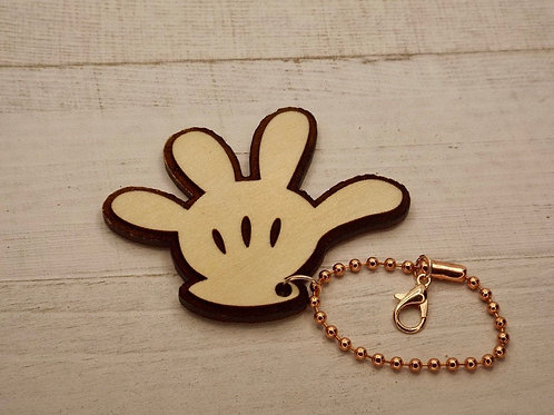 Mickey Mouse Glove Keychain / Disney / Mickey Mouse