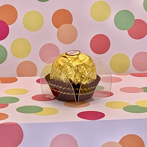 Clear Petal Box - Candy Holder / Chocolate Truffle Holder / Party Decoration
