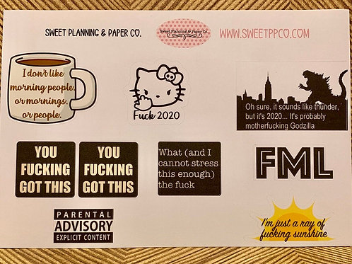 Planner Sticker - FML / Stickers for Planners