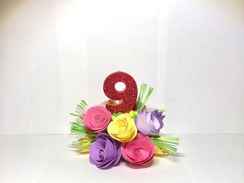 Roses - Cake Topper / Decorations, Paper Flower Cake Topper