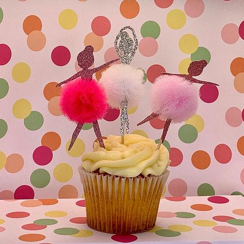 Ballerina - Cupcake Topper