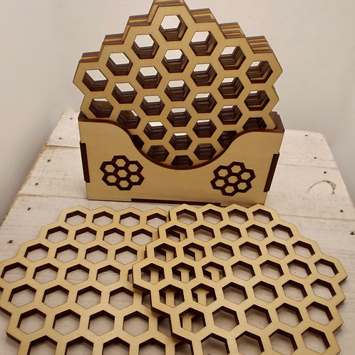 Honeycomb Coaster - Gift / Housewarming Gift / Home Decor