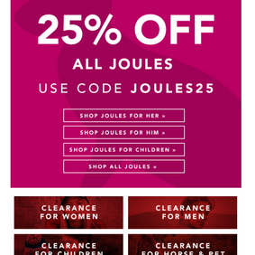 25% Off Joules