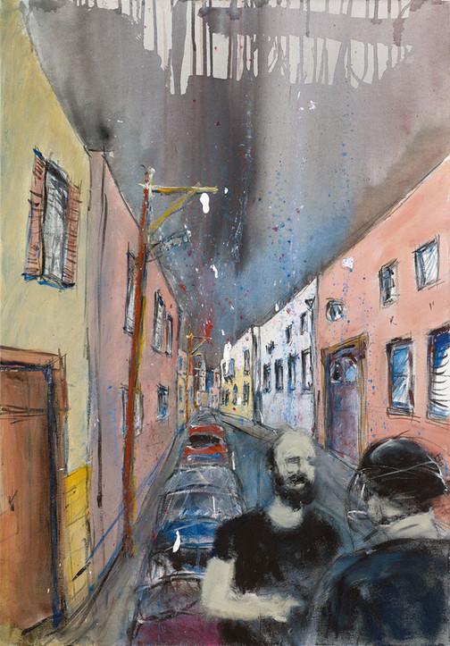 Jaffa Alley 2, 2021, acrylic on canvas, 100X70