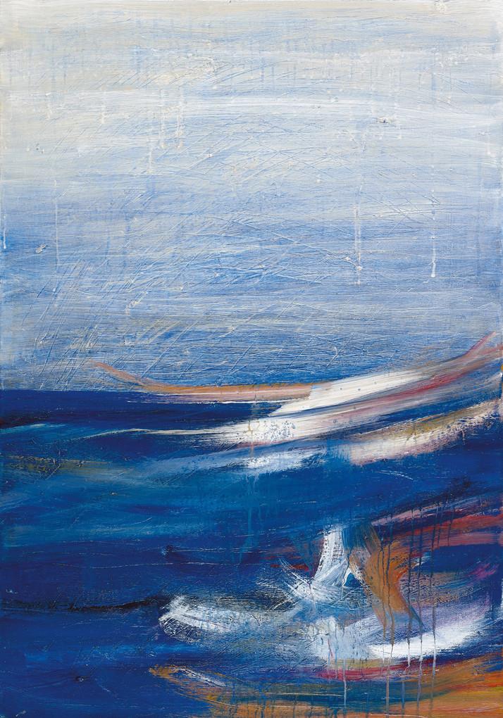 Tel Aviv sea, 2020, acrylic on canvas, 100x70