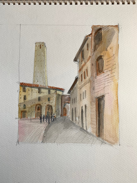 San Geminiano, 2002, water color on paper, 30X21