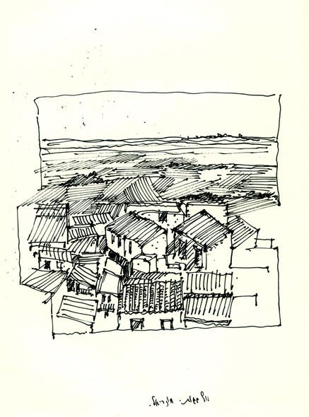 Monreale Sicily 2014, ink on papaer, 30x20