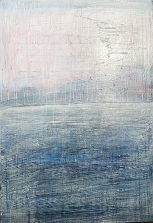 Tel Aviv sea 1, 2020, acrylic on canvas, 100X80
