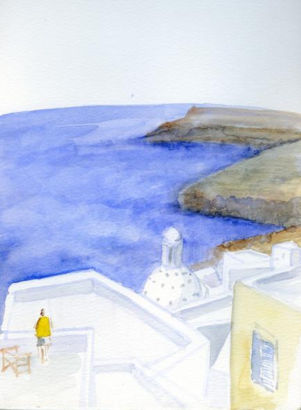 Santorini 2, 2002, water color on paper, 30X20.jpg