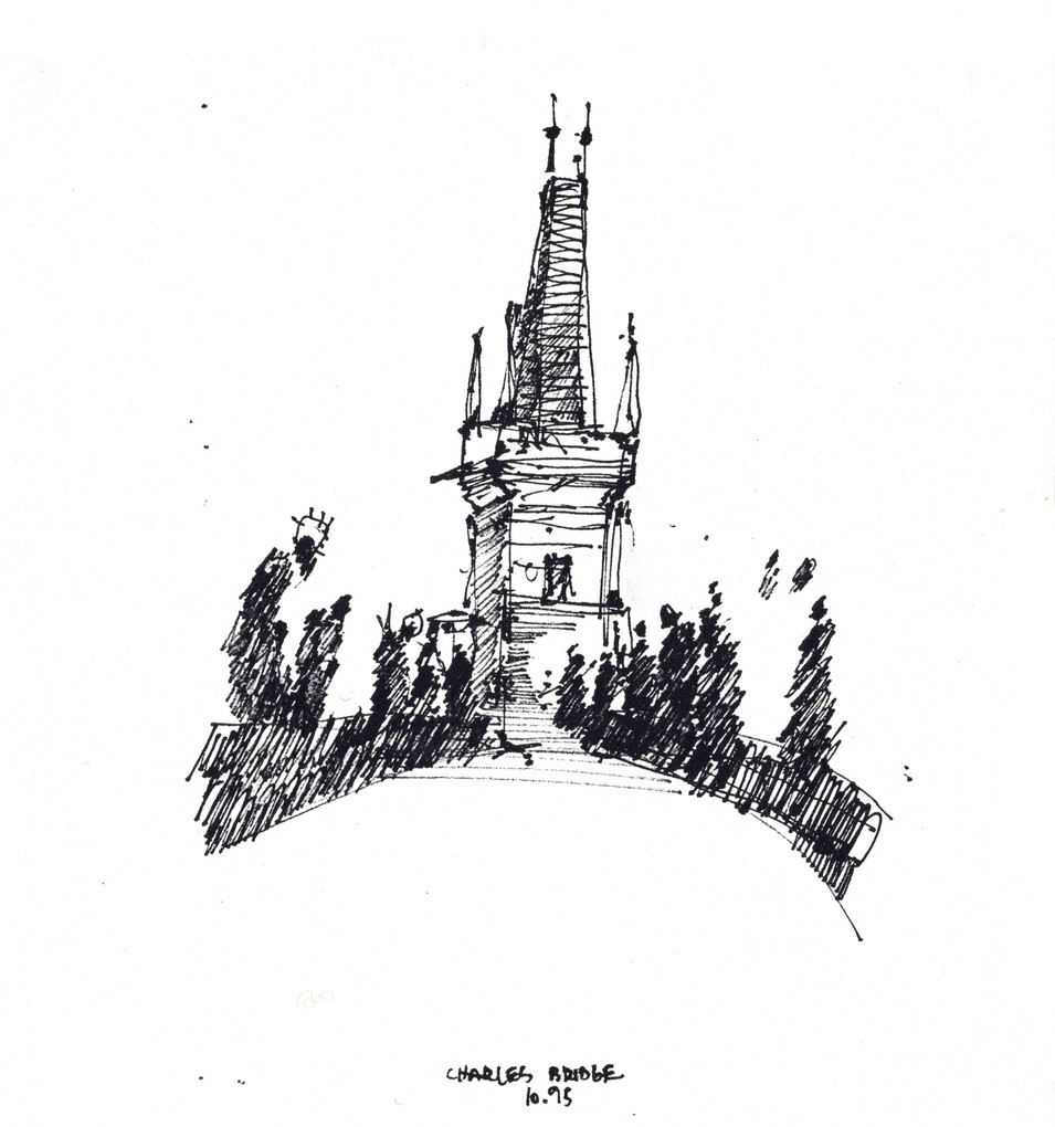 Prague, 1995, ink on paper, 30X20.jpg