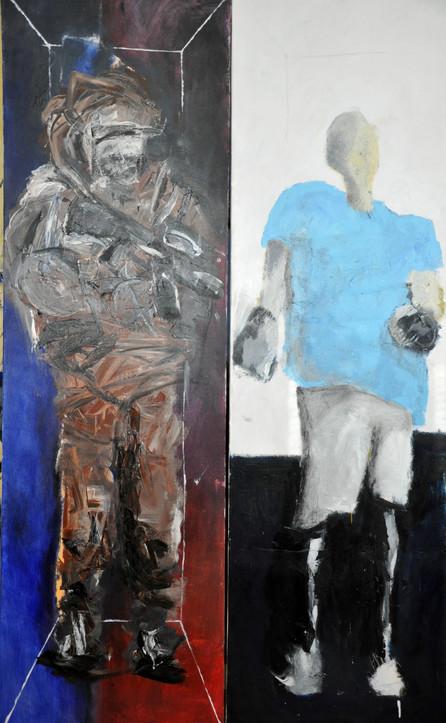 Warriors, 2016, dyptich, acrylic on canvas, 200X120