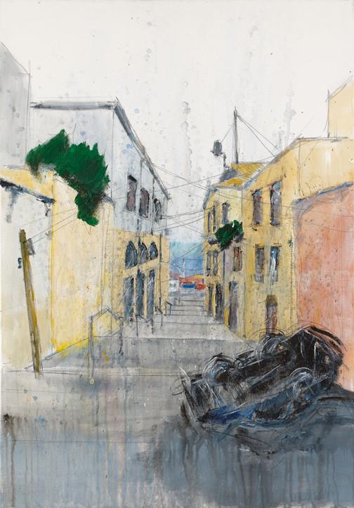Jaffa Alley, 2021, acrylic on canvas, 100X70