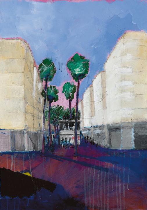 Wahington Blvd., 2021, acrylic on canvas, 100X70