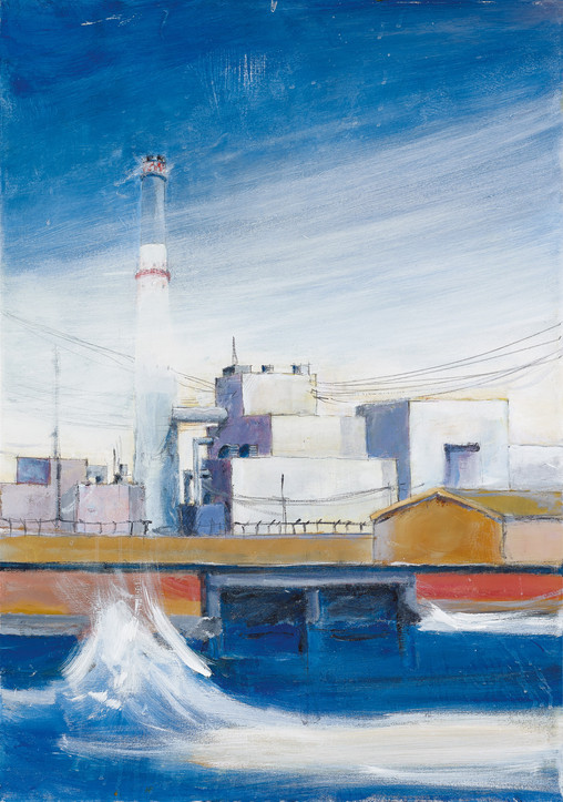 Reading Power Station, Tel Aviv , 2020, acrylic on canvas, 100x70, private collection