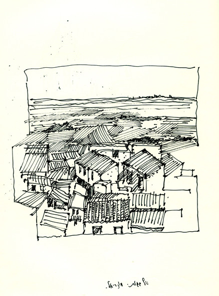 Monreale, 2005, ink on paper, 30X21