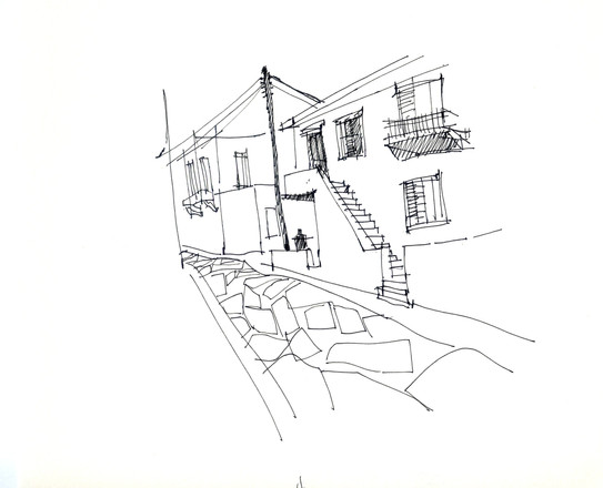 Chora, Andros, 2010, ink on paper, 30X20.jpg