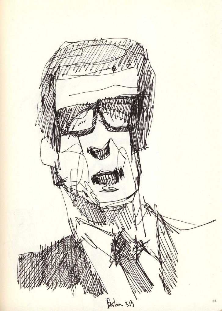 Spokesman study, 2015, ink on paper, 30X20.jpg