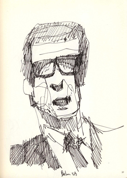 Spokesman study, 2015, ink on paper, 30X20.jpg