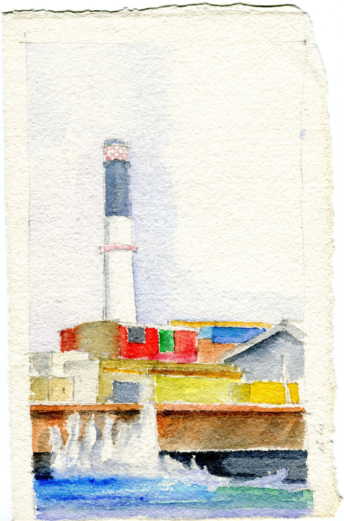 Tel aviv power station, 2018, water color on paper, 25X20