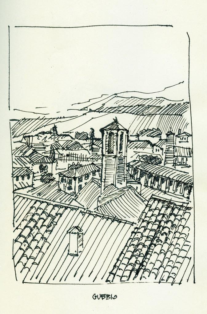 Gubbio, 2015, ink on paper, 30X21