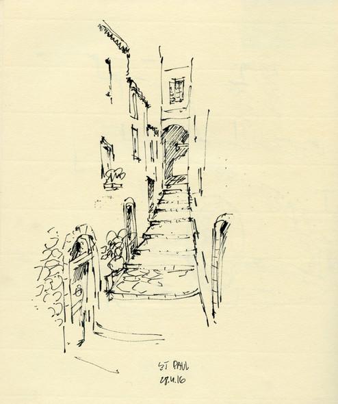 St, Paul street, 2015, ink on paper, 30X20.jpg