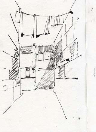 Venezia alley, 2012, ink on paper, 30X21