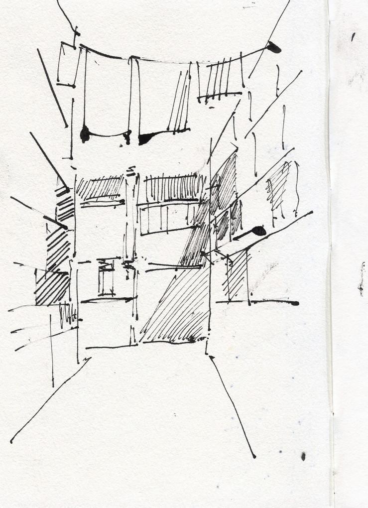 Venezia alley, 2012, ink on paper, 30X21