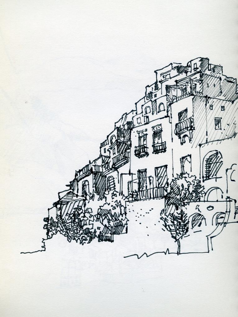 Positano, 2003, ink on paper, 30X21