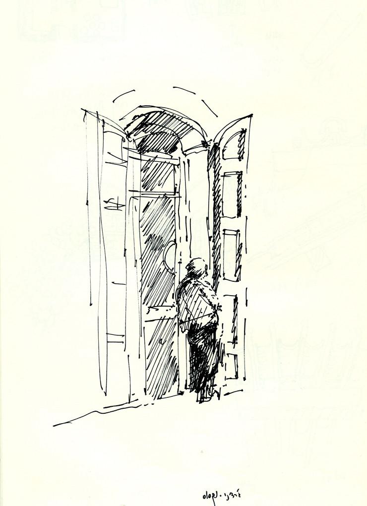 Giardini Naxos, 2003, ink on paper, 30X21