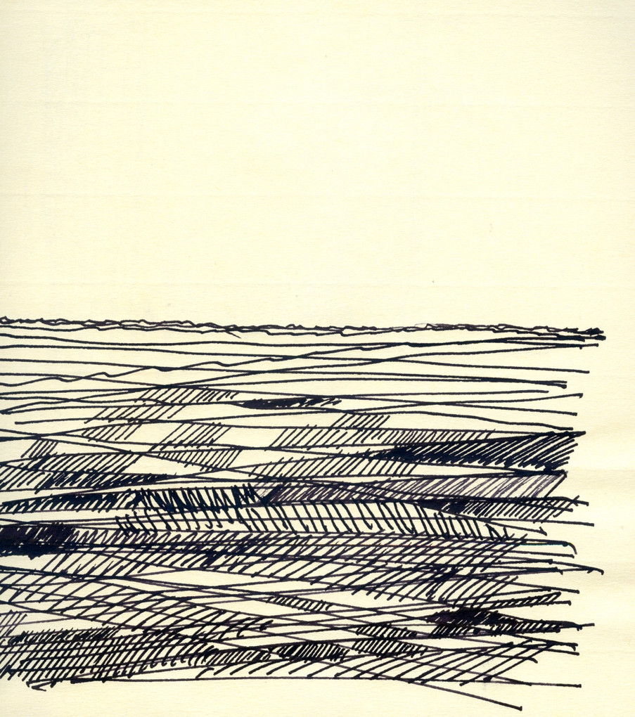 Sea 1, 2020, ink on paper, 30X22