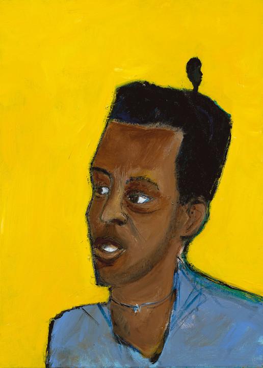 Ali, 2021, acrylic on canvas, 70X50
