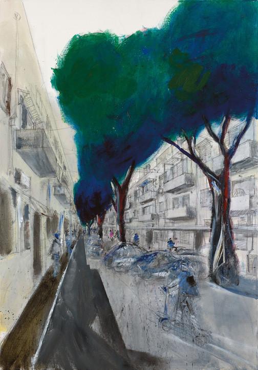 Florentin, 2021, acrylic on canvas, 100X70