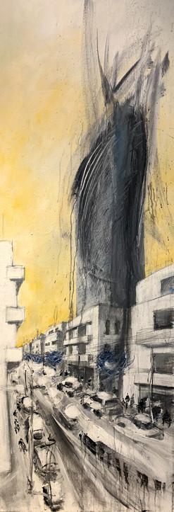 Lilenblum St, 2020, acrylic on canvas, 200X60