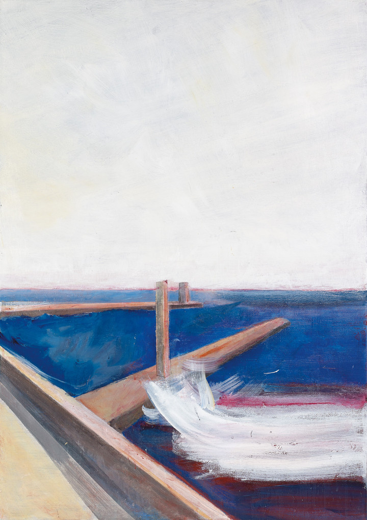 Old Tel Aviv port, 2020, acrylic on canvas, 100X70, private collection
