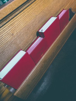 Pew and Hymnals