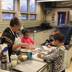 Making communion bread