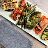 Sheet Pan Greek Vegetables with Tofu