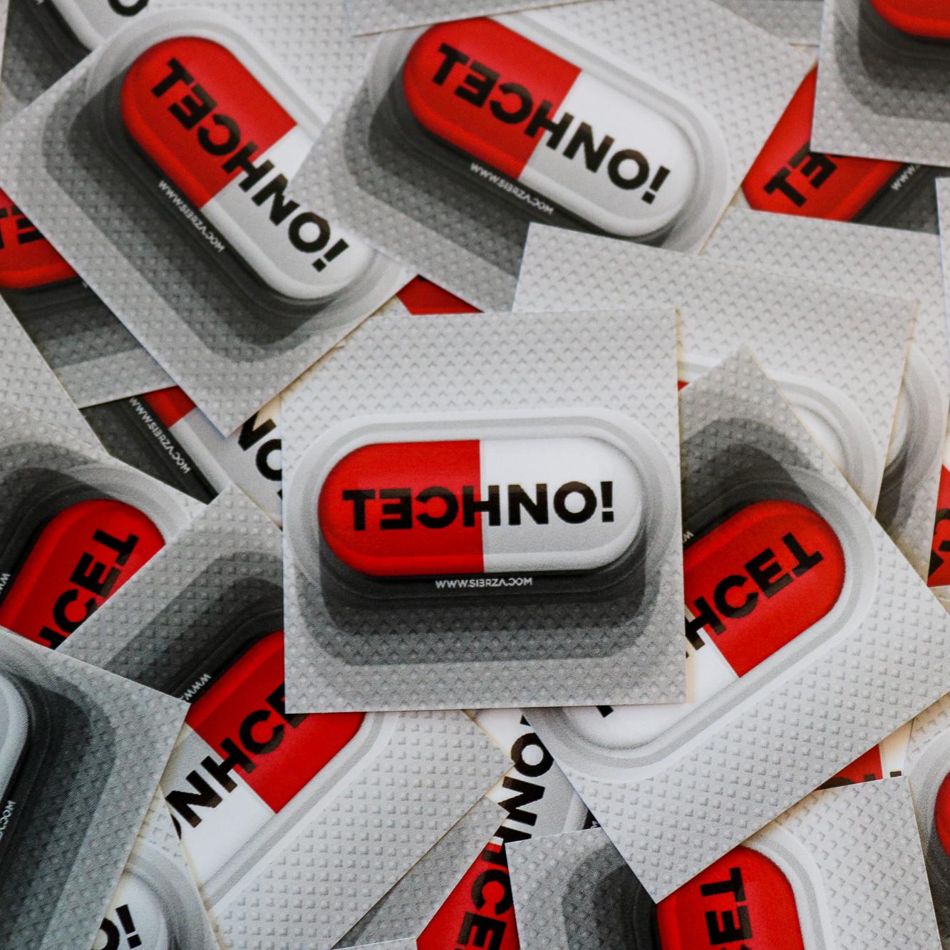 Tech sticker techno! pill classic