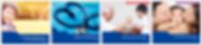 4 Pacific Cross Versicherungspläne in vier Farben dargestellt