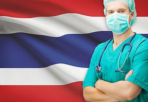 Surgeon With National Flag On Background