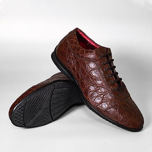 Кроссовки из кожи крокодила