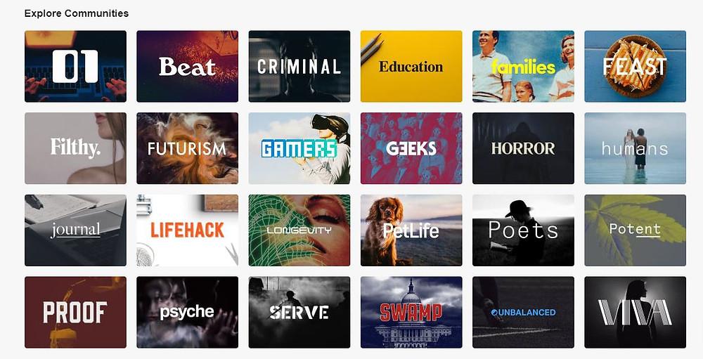 Vocal Media Categories