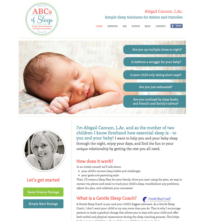 ABCs of Sleep, Launch of new collateral and website