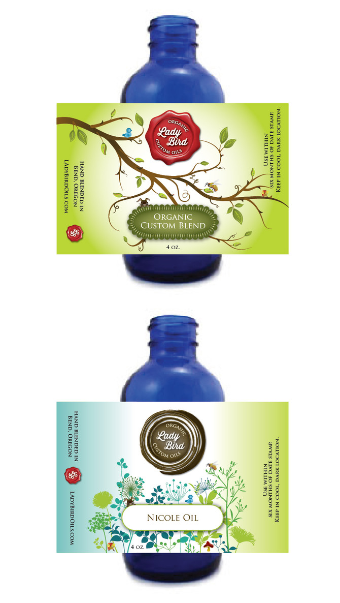 LadyBird Organic Custom Oils :: logo and packaging design