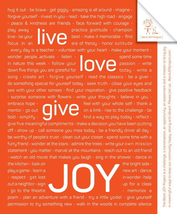 The Bend JOY Project 2018